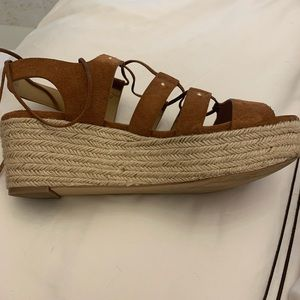 Kors by Michael Kors lace up flat wedge sandals